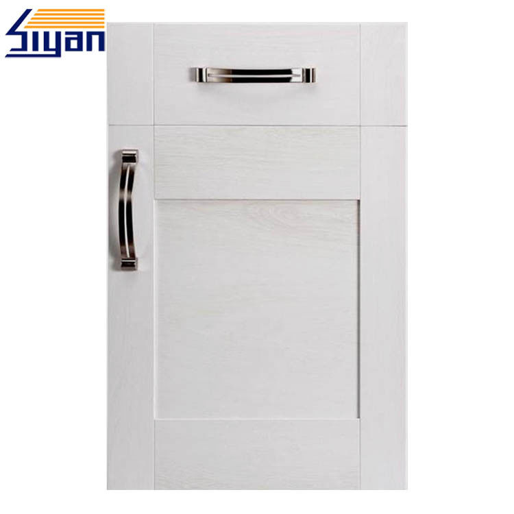 White Replacement Kitchen Cupboard Doors And Drawer Fronts Vinyl Wrapped